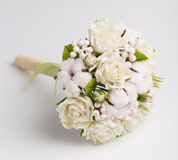 Bridal bouquet on a white background Stock Photos