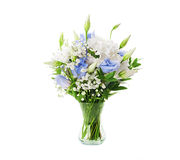 Bridal bouquet from white and blue Stock Images