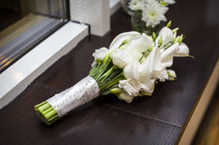 Bridal bouquet of white callas Royalty Free Stock Image