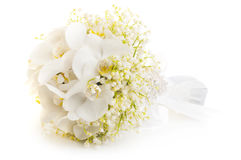 Bridal bouquet of white flowers Royalty Free Stock Photography