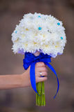 Bridal bouquet of white flowers Stock Images