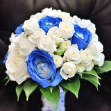 Bridal bouquet of white flowers. In wedding day Royalty Free Stock Photos