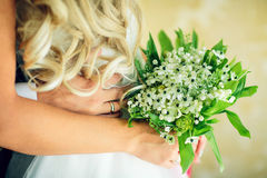 Bridal bouquet with white flowers Royalty Free Stock Photography