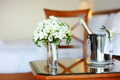 Bridal bouquet of white freesia Stock Photo