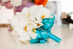 Bridal bouquet from white orchids Royalty Free Stock Images
