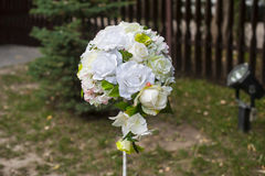 Bridal bouquet of white roses Stock Photography