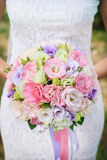 bridal bukiet eustoma zdjęcia stock
