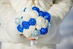 Bridal bukiet jedwabniczy faborki Zdjęcia Royalty Free