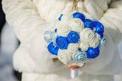 Bridal bukiet jedwabniczy faborki Zdjęcie Stock