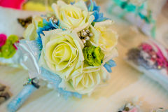 Bridal bukiet jedwabniczy faborki Fotografia Stock