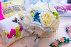 Bridal bukiet jedwabniczy faborki Obrazy Stock
