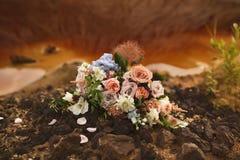Bridal bukiet kwitnie zbliżenie Zdjęcia Stock