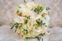 Bridal bukiet na leżance Fotografia Stock