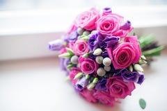 Bridal bukiet różowe róże Zdjęcia Royalty Free