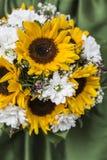 Bridal bukiet słoneczniki, Fotografia Royalty Free