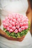 Bridal bukiet z różowymi tulipanami Zdjęcia Royalty Free