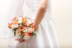 Bridal bunch and lace Royalty Free Stock Photos