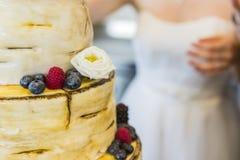 Bridal cake on wedding day. A bridal cake on wedding day stock photo