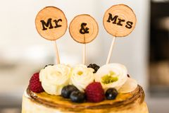 Bridal cake on wedding day. A bridal cake on wedding day stock photography