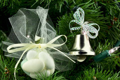 Bridal christmas tree ornaments Royalty Free Stock Photo
