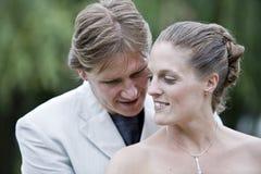 Bridal couple posing Stock Photos