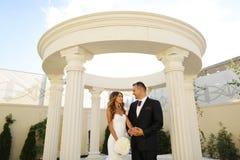 Bridal couple on their wedding day Royalty Free Stock Photos