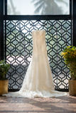 Bridal dress at a destination wedding Royalty Free Stock Image