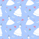 Bridal dress pattern seamless Royalty Free Stock Images