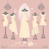 Bridal dresses on mannequin.Fashion background Royalty Free Stock Image