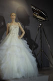 Bridal dresses on the mannequins is seen at A Toast To Tony Ward: A Special Bridal Collection Stock Image