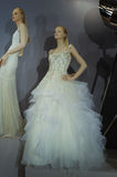 Bridal dresses on the mannequins is seen at A Toast To Tony Ward: A Special Bridal Collection. NEW YORK, NY - APRIL 20: Bridal dresses on the mannequins is seen Stock Images