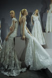 Bridal dresses on the mannequins is seen at A Toast To Tony Ward: A Special Bridal Collection Royalty Free Stock Images