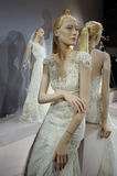 Bridal dresses on the mannequins is seen at A Toast To Tony Ward: A Special Bridal Collection. NEW YORK, NY - APRIL 20: Bridal dresses on the mannequins is seen Stock Photography