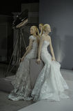 Bridal dresses on the mannequins is seen at A Toast To Tony Ward: A Special Bridal Collection Royalty Free Stock Photo