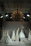 Bridal dresses on the mannequins is seen at A Toast To Tony Ward: A Special Bridal Collection. NEW YORK, NY - APRIL 20: Bridal dresses on the mannequins is seen Stock Photo