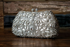 Bridal / Evening purse / clutch Royalty Free Stock Photo