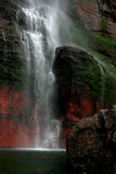 Bridal Falls. Waterfall in Telluride, Colorado, over moss covered rocks Royalty Free Stock Image