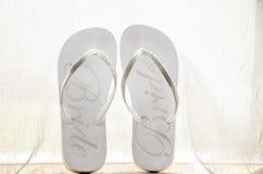 Bridal Flip Flops Stock Images