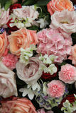 Bridal flower arrangement in pink and white Royalty Free Stock Image