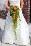 Bridal flowers. Colorful in green and red Royalty Free Stock Images