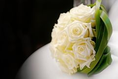 Bridal flowers. A bouquet of bridal flowers on a wedding party Royalty Free Stock Photos