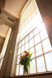 Bridal flowers in church. Detail shot bridal flowers in church Royalty Free Stock Photo