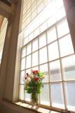 Bridal flowers in church. Detail shot bridal flowers in church Stock Photos