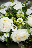 Bridal Flowers. Fresh white roses in bridal flowers Royalty Free Stock Image