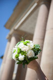 Bridal Flowers. In front of an old building Stock Photo