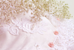 Bridal flowers and lace Royalty Free Stock Images
