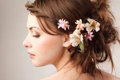 Bridal fryzura Zdjęcie Stock