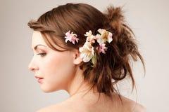 Bridal fryzura Fotografia Royalty Free