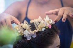 Bridal fryzury koronować mod akcesoria Obraz Stock