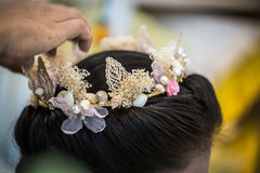 Bridal fryzury koronować mod akcesoria Obrazy Stock